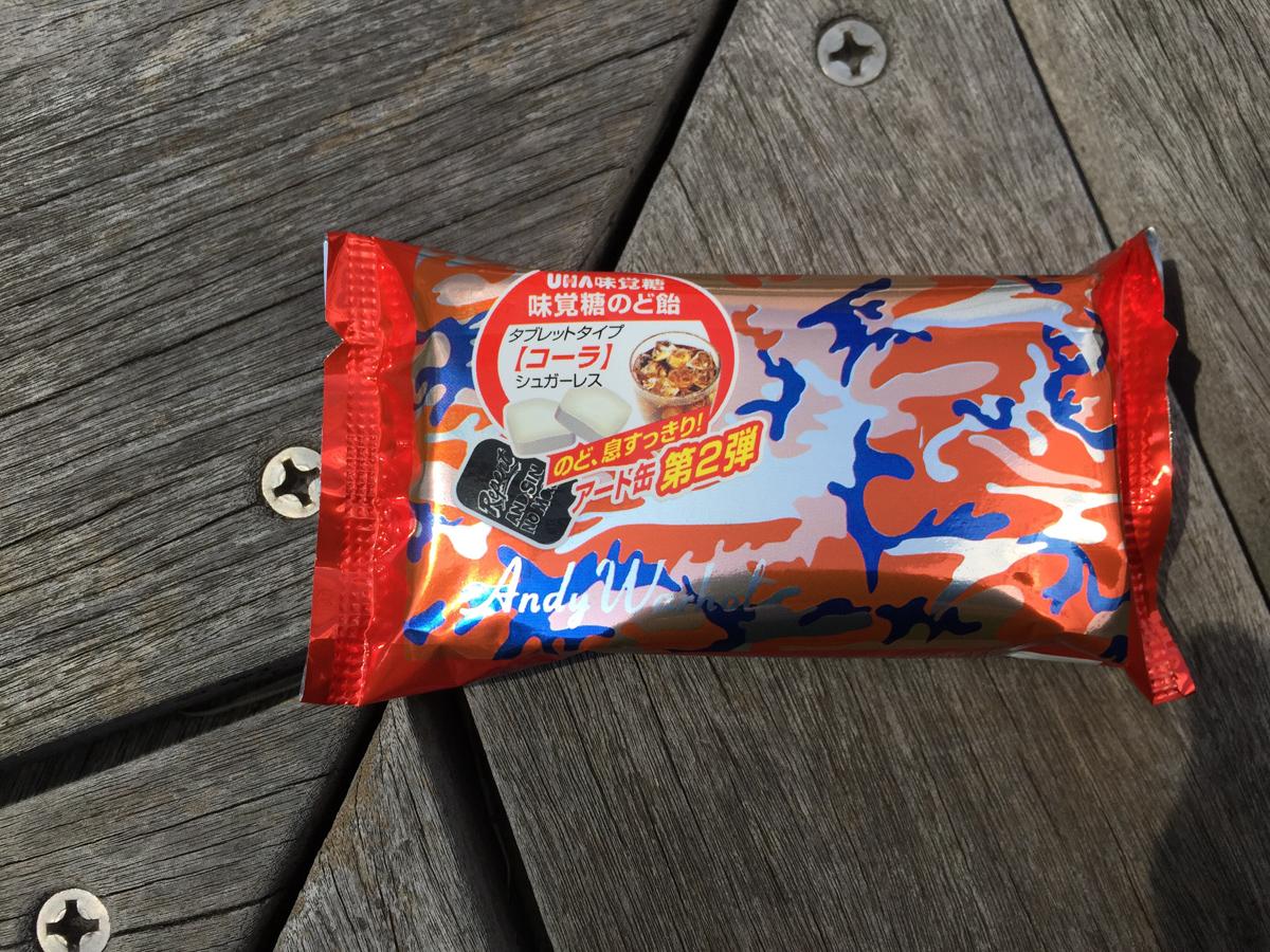 味覚糖のど飴のアート缶第2弾、アンディ・ウォーホルのアート缶は集めたくなるね
