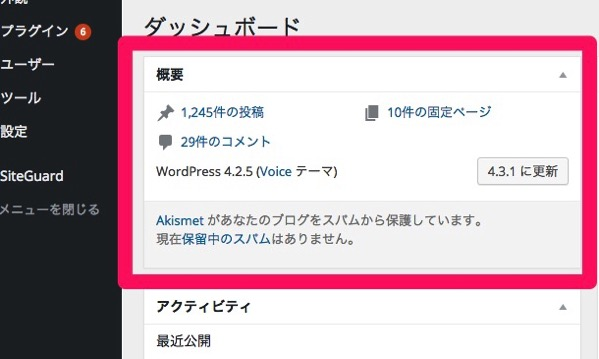 Wordpress version4