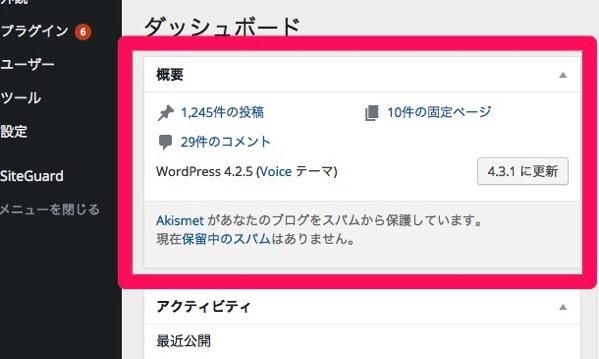 Wordpress version4