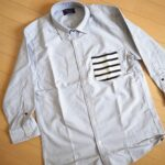 ポケットが良アクセント! nano・universeのボーダーPKシャツ 7分袖