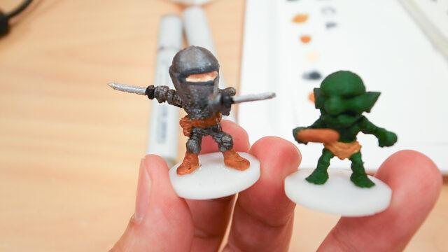 3Dプリンタで戦士を出力してペイントまでを3000円で体験!