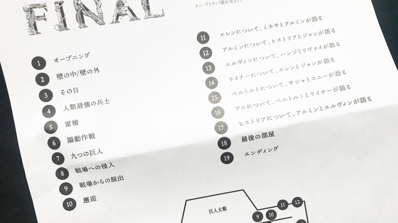 進撃の巨人展FINAL 音声ガイドプログラム