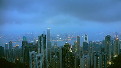 夕暮れ香港